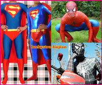 Wholesale Details about HOT HERO Superman amp Spiderman Lycra Spandex zentai costume Suit Party Dress