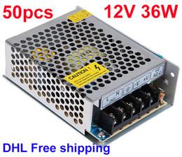 DC 12V 36W Switching Power Supply Transformer LED Driver High Quality Express DHL Fee Shipping 50pcs Lot