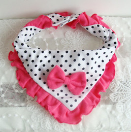 Wholesale Designer Baby lace and bow Bibs Feeding Clear Triangle headcloth multifunctional bibs Cotton Kid Head Scarf Infant Bibs Burp Cloths