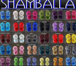 Wholesale Best mm Mixed Micro Pave CZ Disco Ball Crystal Shamballa Bead Bracelet Necklace Beads hot Stock Mixed