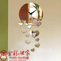Wholesale Diy mirror watches and clocks digital wall clock mirror wall stickers novelty wall decoration