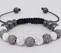 Precio de Mixed crystal beads-Nuevo estilo! 10mm Mixta Blanca mejor joyería barata White Hot granos de la bola de discoteca de los brazaletes VSD pulsera cristalina de Shamballa Regalo de Navidad