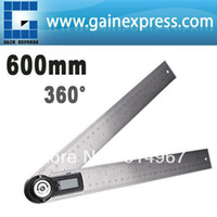 Wholesale Portable Stainless Steel in Digital Angle Finder Meter Protractor Ruler degree mm Stable Locking Function