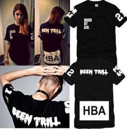 Wholesale 2014 new High Quality Hood By Air HBA X Been Trill Kanye West T Shirt Hip Hop Rock t shirt men big size t shirt tees S XXXL