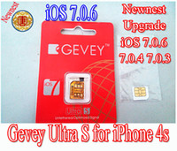 Unlocking Card For Apple iPhone  Newnest Gevey s for upgrade IOS 7.0.6 7.0.4 7.0.3 IOS 7.0.1 IOS 6.0- IOS 6.1.4 unlock sim card for iphone4S iPhone 4S