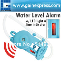 Wholesale Wall mounted Electronic Water Level Alarm with Power Lamp amp Level line Indicator Groove Fences Decks Cabinets Framing Leveling