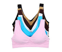 Bras Polyester Printed Hot Sales 200pcs lot 9colors Sexy Bra women bra yoga bra Slimming Underwear Seamless