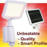 IP55 adjustable light sensor - White Solar PIR Sensor Light Bright LED Solar Lamps Sensor Motion Lights Security Flood Spot Lights Sensitivity Lighting Time Adjustable