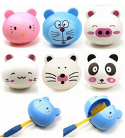 Wholesale Retail Cute Cartoon Animal Plastic Tooth Brush sucker Holder With Sucker