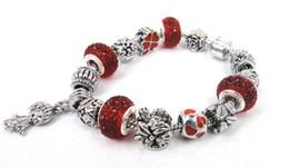 New Fashion Disco Ball Charm Bracelet For Women Christmas bead bracelet Gift Jewelry