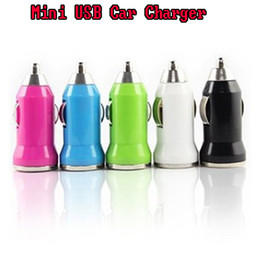 Wholesale Newest Multi function Micro Mini USB bullet Car Charger with IC Protector for Ipad iphone Samsung iPods Smartphones colors