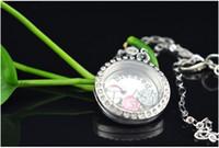 Wholesale Free shpping Hot European and American fashion jewelry mm round glass heart shaped box zinc alloy pendants lockets