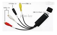 Wholesale USB Easy CAP DC60 TV DVD VHS Video capture Audio AV Capture Video acquisition card