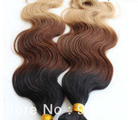 Chinese Hair Body Wave Ombre Color Oxette Hot Sale Hair Products Malaysian virgin body wave Ombre Hair Extensions 1b# 4# 27# three Tone Color ombre hair weft