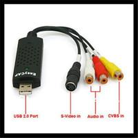 Wholesale New USB Easycap dc60 tv dvd vhs video Capture adapter with Audio AV Capture for windows xp vista
