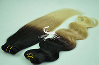Chinese Hair Straight Ombre Color Oxette Ombre Color #1B #27 #613 Hair Extensions Brazilian Hair Silk Straight Body Wave 4Pcs Lot Hair Weave Virgin Remy Human Hair Weft