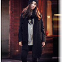 Wholesale 2014 hotsale2013 women Wool Blends Coat of suit collar rib knitting medium long elegant and slim ouwear WWN156