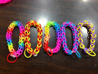 Link, Chain Link, Chain  Children's 1000pcs Rainbow Loom Kit DIY Wrist Bands rubber band Rainbow Loom Bracelet for kids (600 pcs bands + 24 pcs C-clips ) 13 Colors