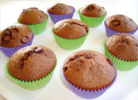 Wholesale FDA Food Grade silicone Round Cake Muffin Chocolate Cupcake Liner Baking Cup Mold