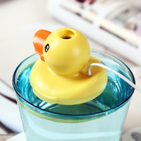 Wholesale 55 mm Lovely Color Cartoon Duck USB Humidifier MINI Floating Mist Diffuser Air Freshener Appliances Desktop Decoration SH311