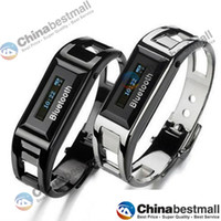 Wholesale BW10 Silicon Vibrating Bluetooth Bracelet smart watch with OLED caller ID display for bluetooth mobile phone Black Silver