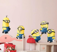 Wholesale 60pcs New Design Despicable Me Minion Movie Decal Removable Wall Sticker Home Decor Art Kids Nursery Loving Gift M230
