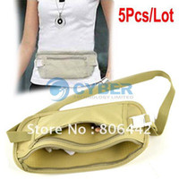 Wholesale New Security Travel Ticket Waist Purse Pouch Money Coin Cards Passport Belt Bag