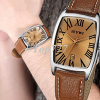 Dress Unisex Tonneau Unisex Eyki Tonneau watch with real calendar (Japan Quartz movements)