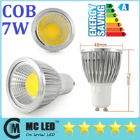 Wholesale 2014 Hot Sales W GU10 Led COB Spotlights Lamp lm High Power Dimmable E27 E26 E14 GU5 MR16 Warm Cool White Led Bulbs Light V V