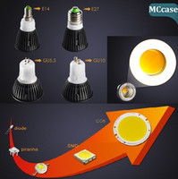 Wholesale 2014 Brand New COB Led Spot Bulbs Light Dimmable W GU10 E27 E26 E14 GU5 MR16 Led Down Light Bulb Lamp Warm Cool White V V