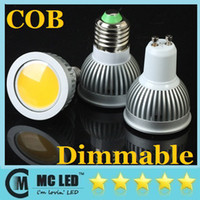 Wholesale Super Bright COB W Lumens Dimmable GU10 Led Bulbs Light Angle Warm Natural Cool White AC V Led Spotlights Lamp CE ROHS UL