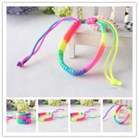 cheap bracelets - 2014 New style Braided Bracelets Rainbow colors bracelets cheap bracelets