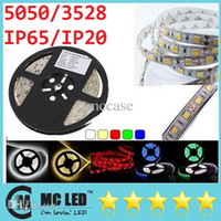 Wholesale 100M SMD Warm Pure Cool White Red Green Blue RGB Waterproof Flexible Led Strips Light M Leds V Non Waterproof