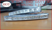 Cheap One Pair S8 Emark DRL 8SMD LED Daytime Running Lamp +Daytime Running Light +daytime driving lamp Freeshipping Little 8 lamp
