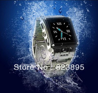 Wholesale Water Proof IP67 Quad bands stainless waterproof Wrist watch phone W818 with camera blue tooth watch watch mobile