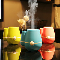 Wholesale 3 Color Ultrasonic Silent USB Humidifier Aroma Flower Bottle MINI Air Purifier Freshener Office Decoration SH312