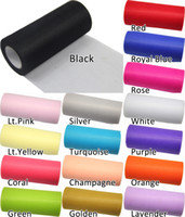 Wholesale 10 TULLE Roll Spool quot x25Y Tutu Wedding Gift Bow Craft Bridal Decorating color