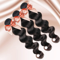 Wholesale by DHL Retail unprocessed Brazilian human virgin Hair weave extensions body wave clip in Hair Extension