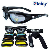 Wholesale Daisy C5 Desert Storm Sunglasses lenses Goggles Tactical Eyewear Cycling Riding Eye Protection For Airsoft UV400 Glasses