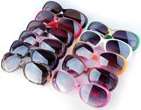 PC name brand eyeglasses - 2014 Hot Selling Brand Name Sunglasses UV400 Eye Protection oculos de sol femininos Colorful PC Frame Eyeglasses