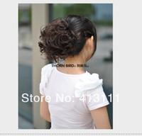 Black hair extension clip - Stylish Bridal Hair bun Pretty Women and Girls Hair Magic Curly Hair Buns Clip in Hair Extensions Big size hair Chignons Hot