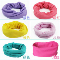Wholesale bandanas headwear neck warm plain color magic headband scarf multifunction