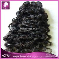 discount remy hair - Discount remy hair deep curl Peruvian remy hair weaves