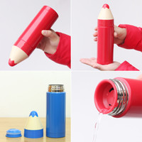 Wholesale Colorful Pencil Shaped Mug Stainless Steel Insulation Cup Seal Bottle Thermos Children s Drinkware