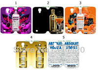 For Samsung absolut leather - 2014 Hot arrival absolut vodka logo PU leather card foldable case for I9500 Galaxy SIV