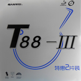 2Pcs Sanwei T88-III (a pair rubbers in a package) Pips-In Table Tennis (Ping Pong) Rubber With Sponge