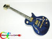 blue guitar - Newest Supreme Electric Guitar Custom Shop Hollow Bule guitar High Quality guitar