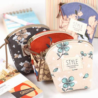 Cheap Smile print coin purse bag casual iopened coin case small storage bag