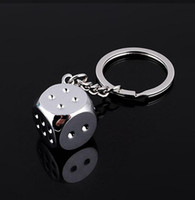 Wholesale 10 pieces Personalized Dice Keychain key ring small gift pendant charm