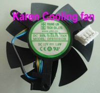 Wholesale New Original YOUNG LIN DFB501012H graphics card cooling fan V W dual ball bearing cooling fan
